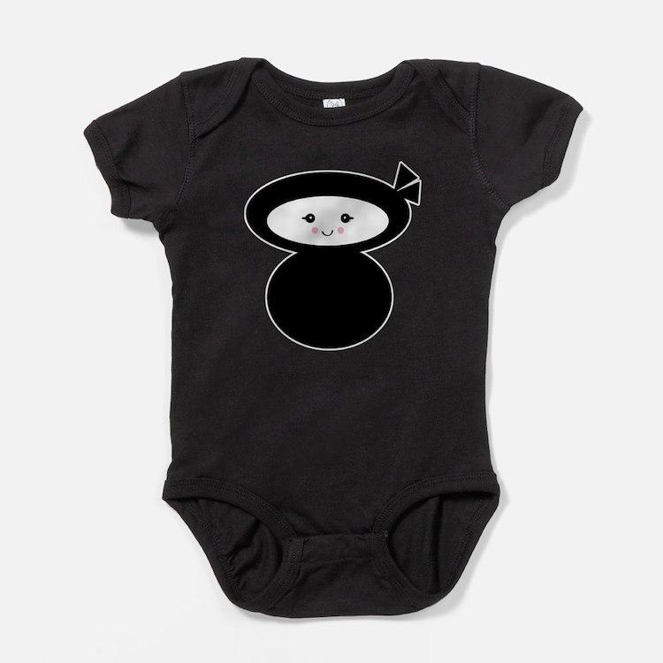 ninja kawaii dolly.png Baby Bodysuit