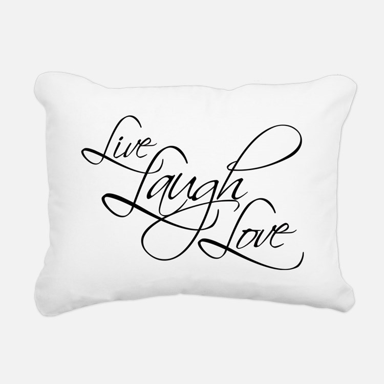 Live, Laugh, Love Rectangular Canvas Pillow