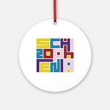 Schizophrenia Maze Ornament (Round)