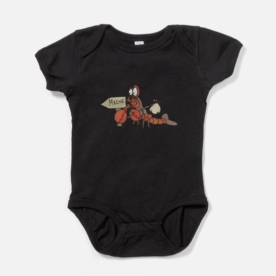 lobster moving to maine.png Baby Bodysuit