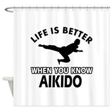 Aikido vector designs Shower Curtain