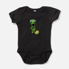 turtle coming out of his shell.png Baby Bodysuit