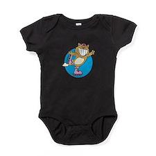 kitty on roller skates copy.png Baby Bodysuit