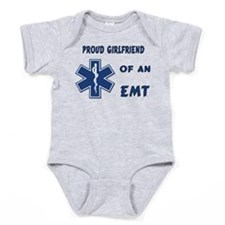 proud emt girlfrien... Baby Bodysuit
