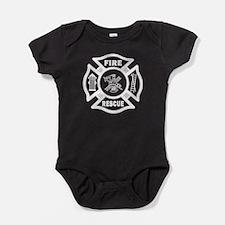Fire Rescue Baby Bodysuit