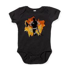 Firefighter Flames Baby Bodysuit