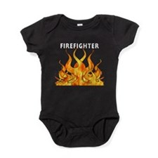 Firefighter Flames Baby Bodysuit