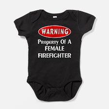 Female Firefighter Property Baby Bodysuit