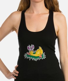 sleeping duck with butterfly.png Racerback Tank To