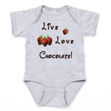 Live Love Chocolate Baby Bodysuit
