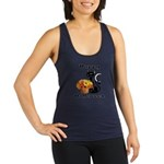 Halloween Black Cat Racerback Tank Top