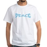 Peace in Blue White T-Shirt
