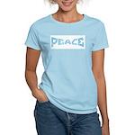 Peace in Blue Women's Pink T-Shirt