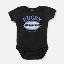 Rugby Name Light Blue Baby Bodysuit