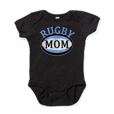 Proud Rugby Mom Light Blue Baby Bodysuit
