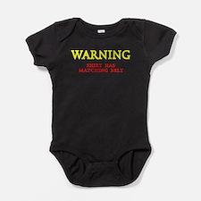Warning Matching Belt Fun Baby Bodysuit