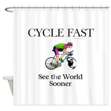 TOP Cycle Fast Shower Curtain