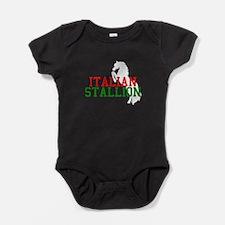 italian stallion black.png Baby Bodysuit