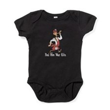 funny man in kilt copy.png Baby Bodysuit