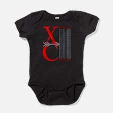 XC Run Red Gray Baby Bodysuit