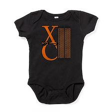 XC Run Orange Black Baby Bodysuit