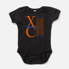 XC Run Orange Royal Blue Baby Bodysuit