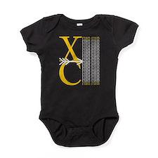 XC Run Yellow White Baby Bodysuit