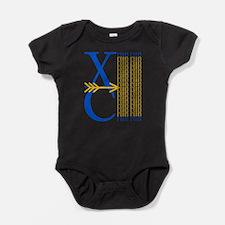 XCrunRoyBlGld.png Baby Bodysuit