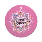 Breast Cancer Lotus Ornament (Round)