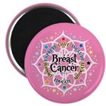 Breast Cancer Lotus Magnet