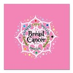 Breast Cancer Lotus Square Car Magnet 3