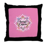 Breast Cancer Lotus Throw Pillow
