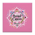 Breast Cancer Lotus Tile Coaster