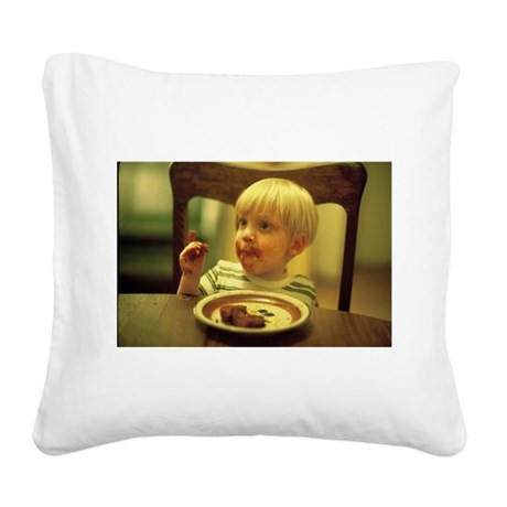 """""""It's A Piece of Cake!"""" Square Canvas Pillow"""