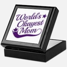 World's Okayest Mom Purple Keepsake Box