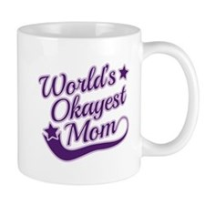 World's Okayest Mom Purple Mug