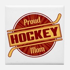 Proud Hockey Mom Tile Coaster