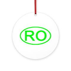 Romamia - RO Oval Ornament (Round)