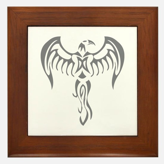 Tribal Phoenix Framed Tile