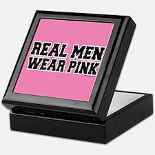 Real Men Wear Pink Keepsake Box
