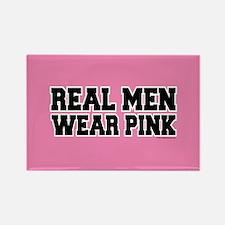 Real Men Wear Pink Rectangle Magnet (10 pack)