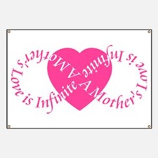 Mothers Love Infinite Mothers Day Banner