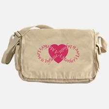 Mothers Love Infinite Mothers Day Messenger Bag