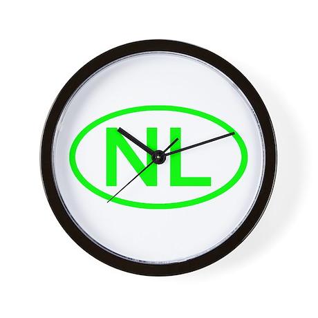Netherlands - NL Oval Wall Clock