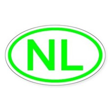 Netherlands - NL Oval Oval Decal