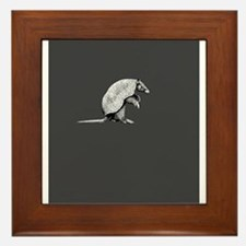 little armadillo Framed Tile