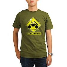STICKMAN BAJA BUG road sign T-Shirt
