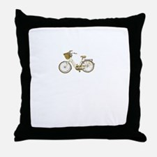 cute vintage bicycle Throw Pillow