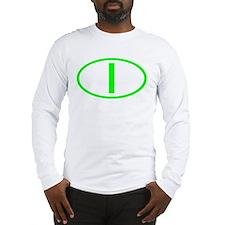 Italy - I Oval Long Sleeve T-Shirt