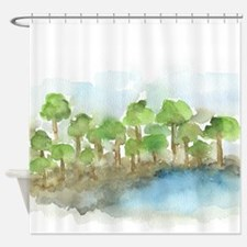 Trees by the sea 1 Shower Curtain